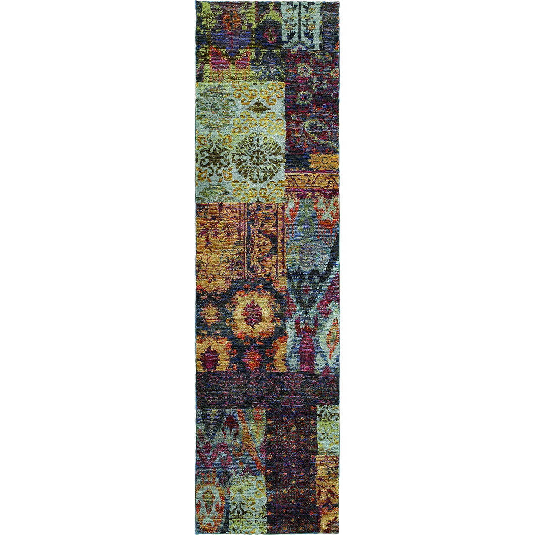 Oriental Weavers Andorra 7137A Multi/ Blue Abstract Area Rug