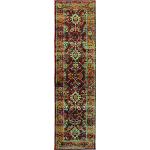 Oriental Weavers Andorra 7154A Red/ Gold Oriental Area Rug
