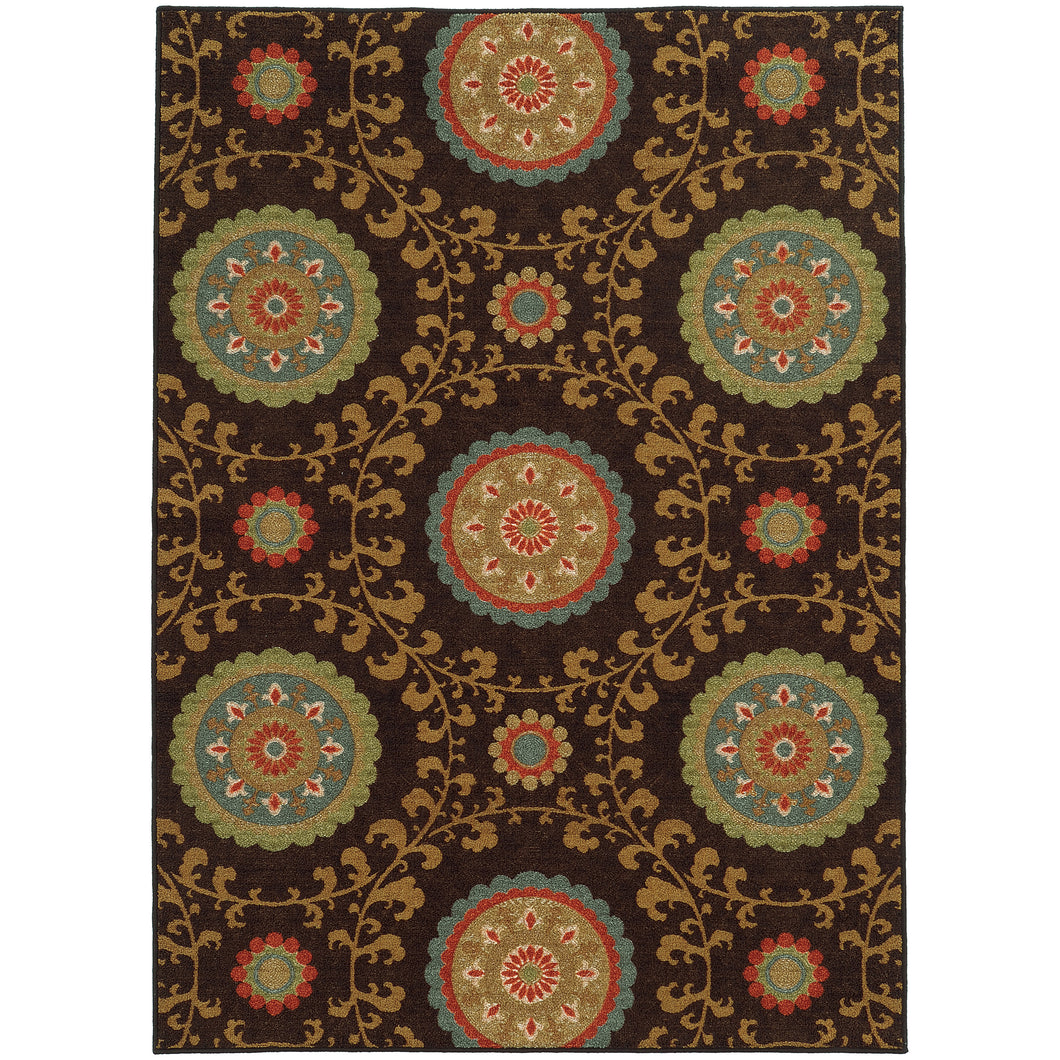 Oriental Weavers Arabella 15757 Brown/Multi Floral Area Rug