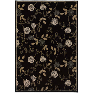 Oriental Weavers Ariana 2285G Black/Green Floral Area Rug