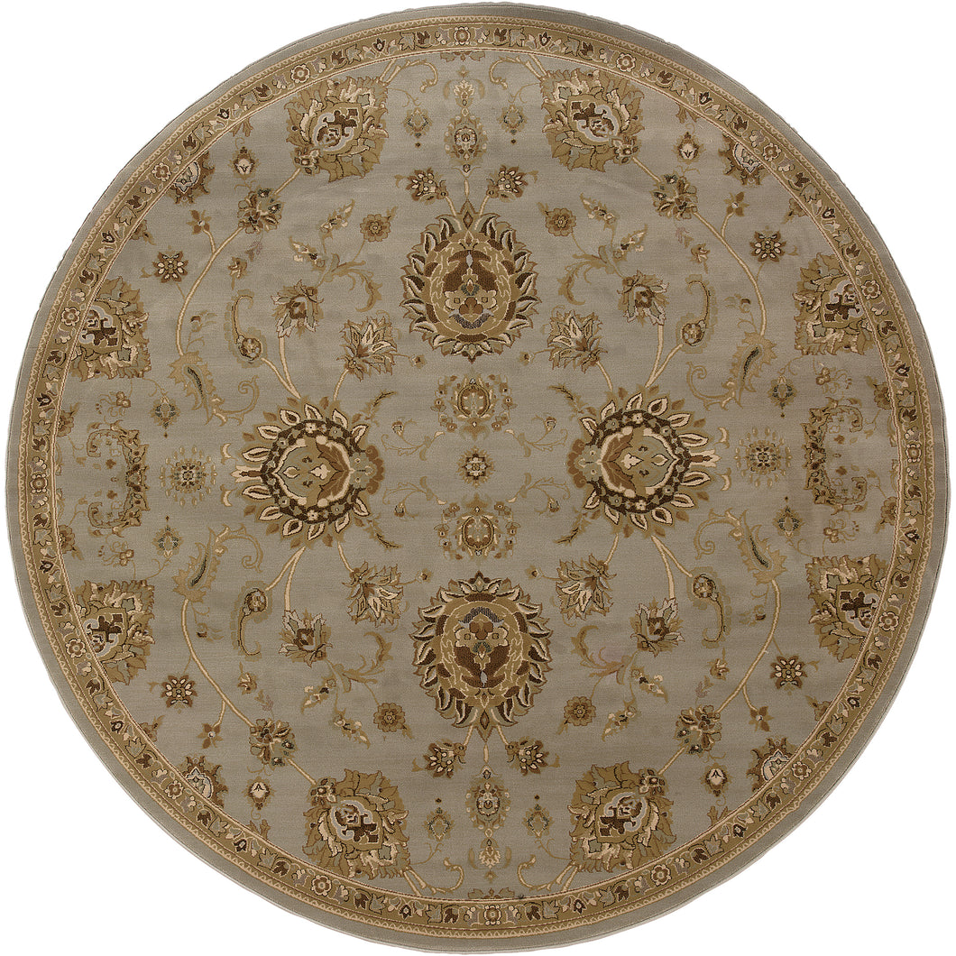Oriental Weavers Ariana 2302B Blue/Gold Floral Area Rug