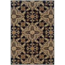 Load image into Gallery viewer, Oriental Weavers Ariana 2313B Black/Green Floral Area Rug