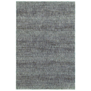 Oriental Weavers Atlas 8033J Blue/ Grey Solid Area Rug