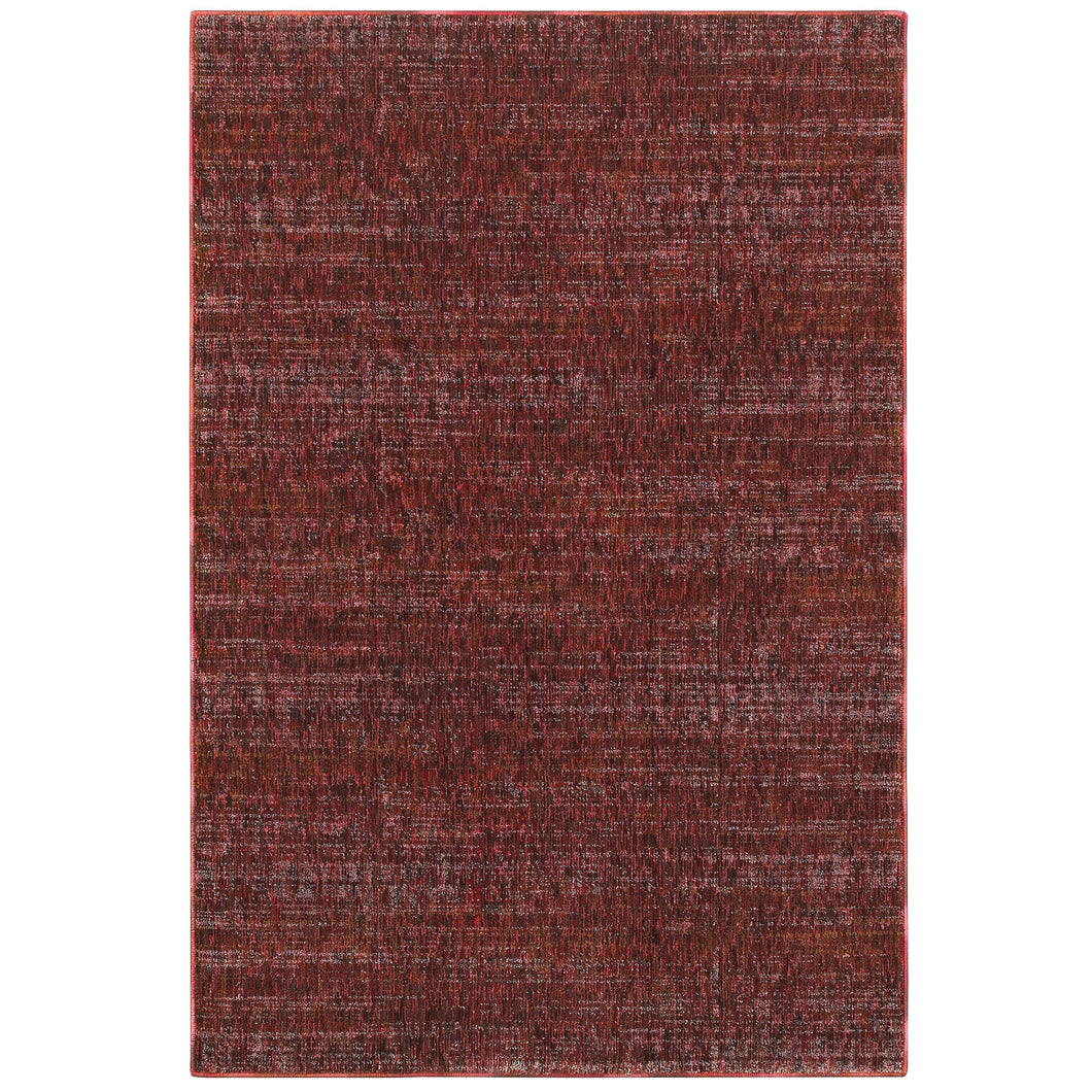 Oriental Weavers Atlas 8033K Red/ Rust Solid Area Rug