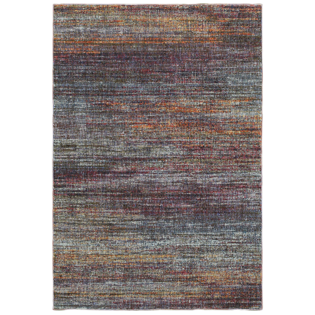 Oriental Weavers Atlas 8037B Multi/ Multi Abstract Area Rug