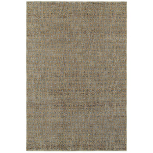 Oriental Weavers Atlas 8048B Blue/ Gold Geometric Area Rug