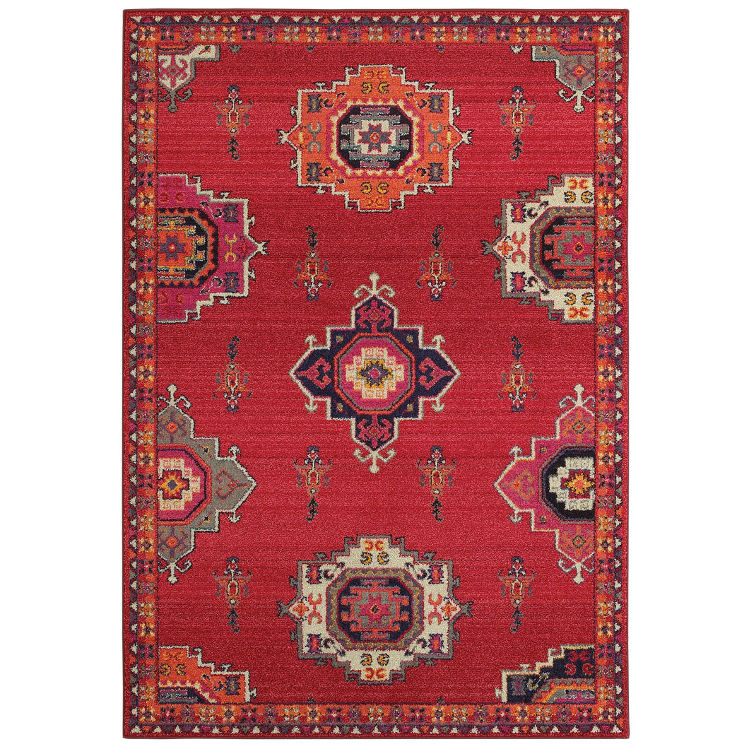 Oriental Weavers Bohemian 1801R Pink/ Orange Floral Area Rug