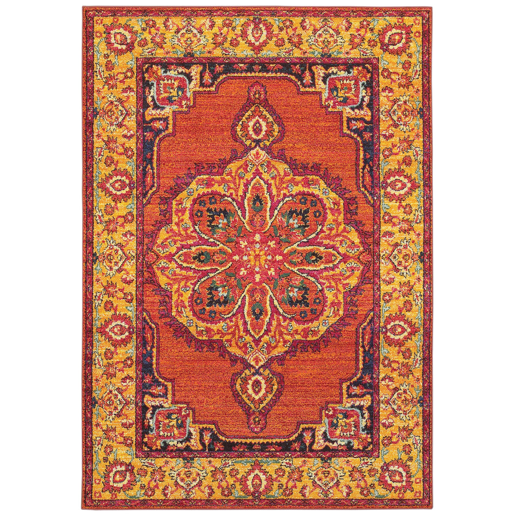 Oriental Weavers Bohemian 3339Y Orange/ Yellow Oriental Area Rug
