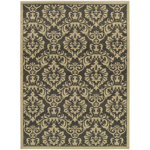 Oriental Weavers Brentwood 530K9 Charcoal/Ivory Floral Area Rug