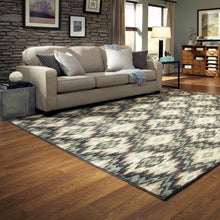Load image into Gallery viewer, Oriental Weavers Brentwood 531K9 Ivory/Blue Abstract Area Rug