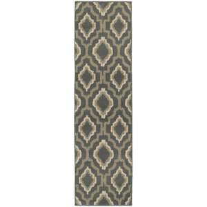 Oriental Weavers Brentwood 5501D Charcoal/Grey Geometric Area Rug