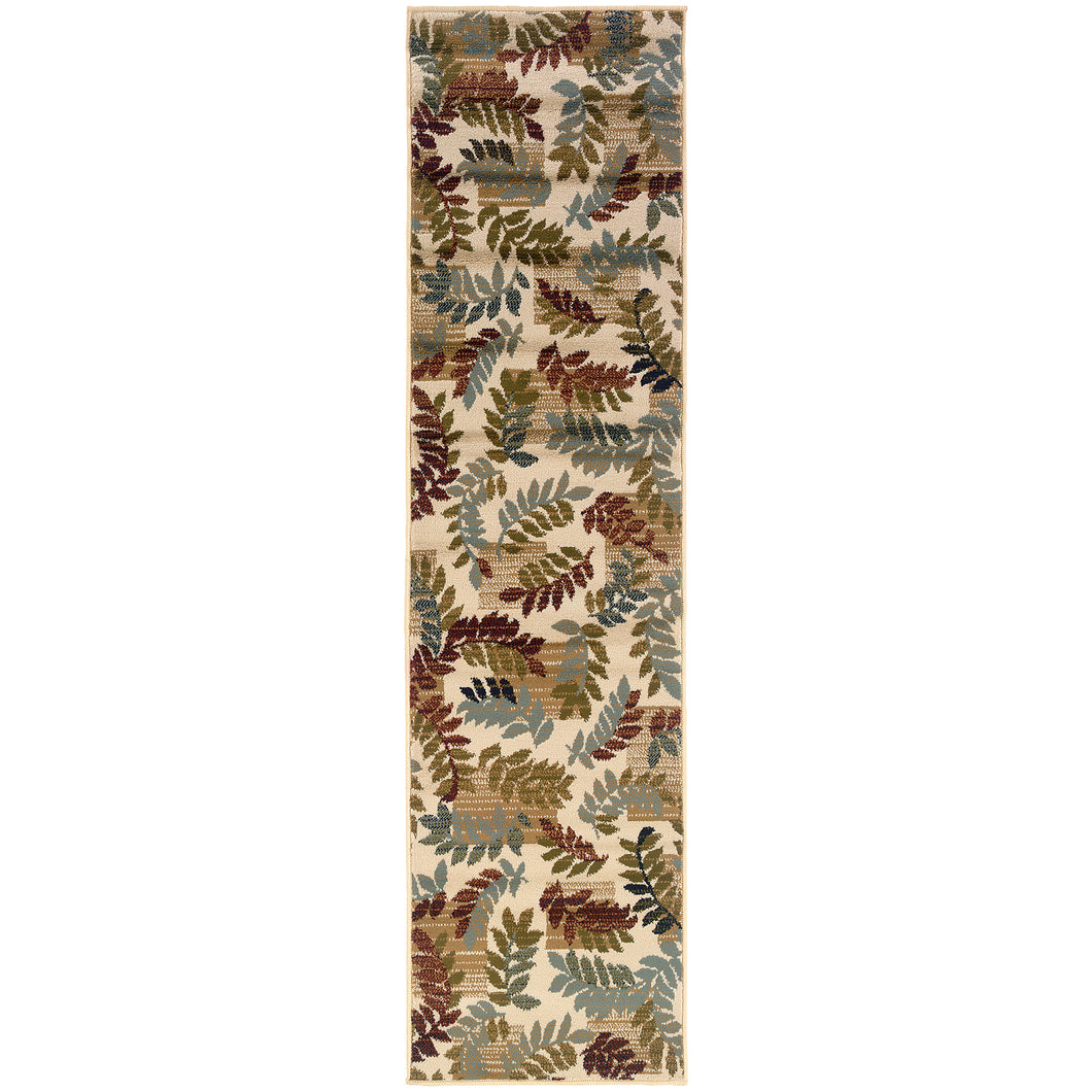 Oriental Weavers Camden 2244A Beige/Gold Floral Area Rug