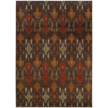 Load image into Gallery viewer, Oriental Weavers Casablanca 4447A Brown/Orange Floral Area Rug