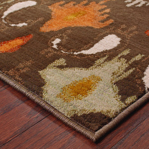 Oriental Weavers Casablanca 4447A Brown/Orange Floral Area Rug