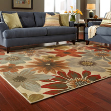 Load image into Gallery viewer, Oriental Weavers Casablanca 5190A Beige/Blue Floral Area Rug