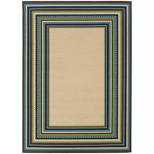 Load image into Gallery viewer, Oriental Weavers Caspian 1003X Ivory/Blue Border Area Rug