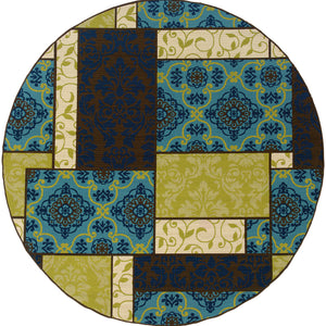 Oriental Weavers Caspian 3066V Brown/Blue Geometric Area Rug