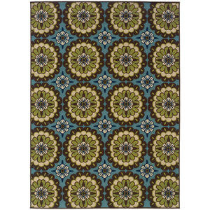 Oriental Weavers Caspian 8328L Blue/Brown Floral Area Rug