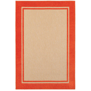 Oriental Weavers Cayman 5594Q Sand/ Orange Border Area Rug