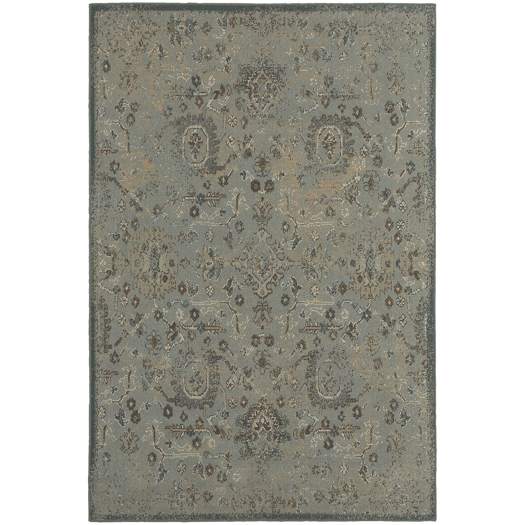 Oriental Weavers Chloe 3692I Blue/Brown Oriental Area Rug