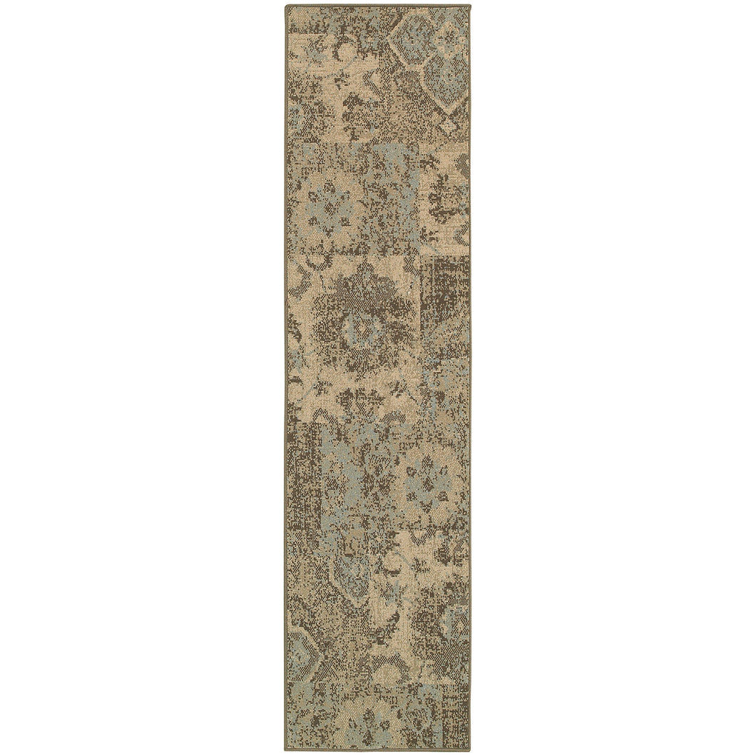 Oriental Weavers Chloe 4712K Tan/Blue Geometric Area Rug