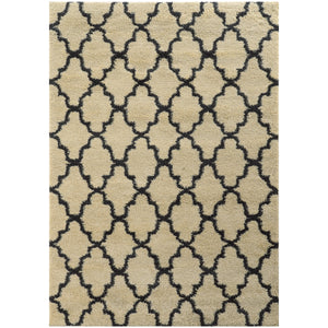 Oriental Weavers Covington 091W6 Ivory/Midnight Geometric Area Rug