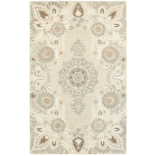 Oriental Weavers Craft 93000 Sand/ Ash Floral Area Rug