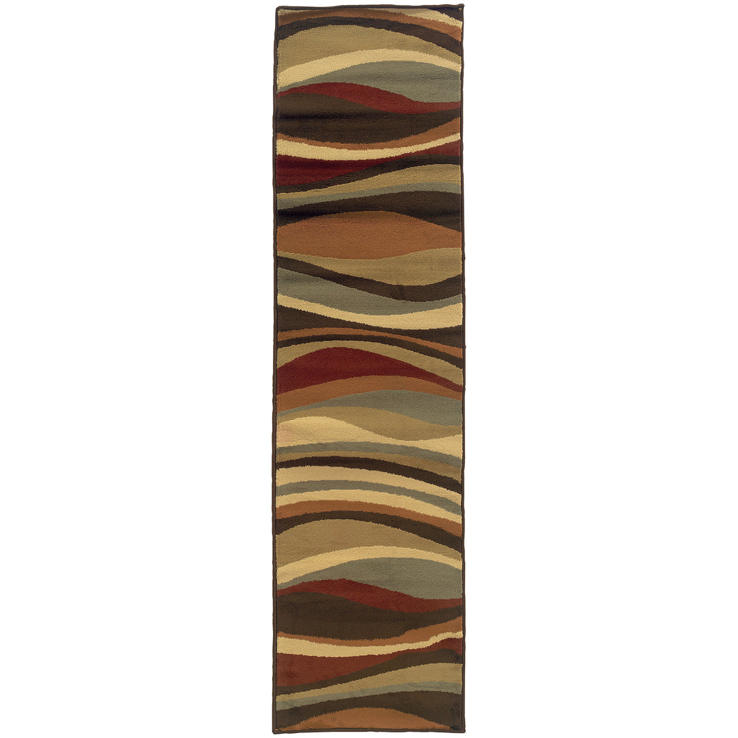 Oriental Weavers Darcy 4442N Brown/Green Abstract Area Rug