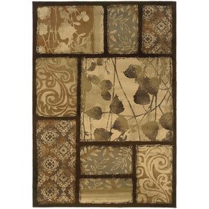 Oriental Weavers Darcy 8025D Brown/Tan Floral Area Rug