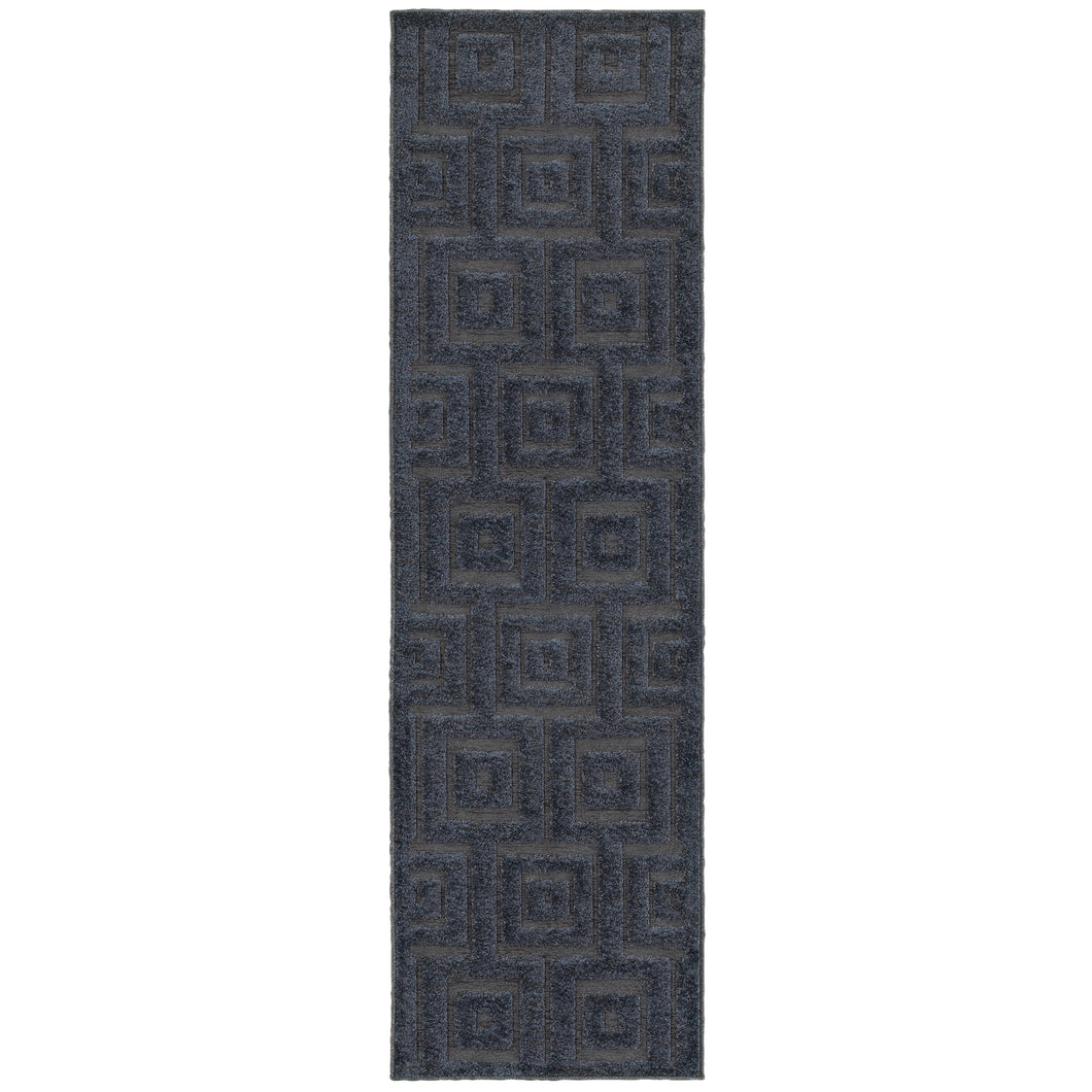 Oriental Weavers Elisa 2061B Navy/ Blue Geometric Area Rug