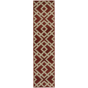 Oriental Weavers Ella 3685J Red/Light Grey Geometric Area Rug