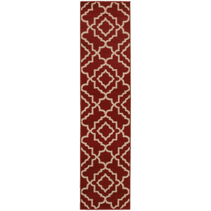 Oriental Weavers Ella 5185E Red/Beige Geometric Area Rug