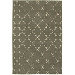 Oriental Weavers Ellerson 5994D Grey/Ivory Lattice Area Rug