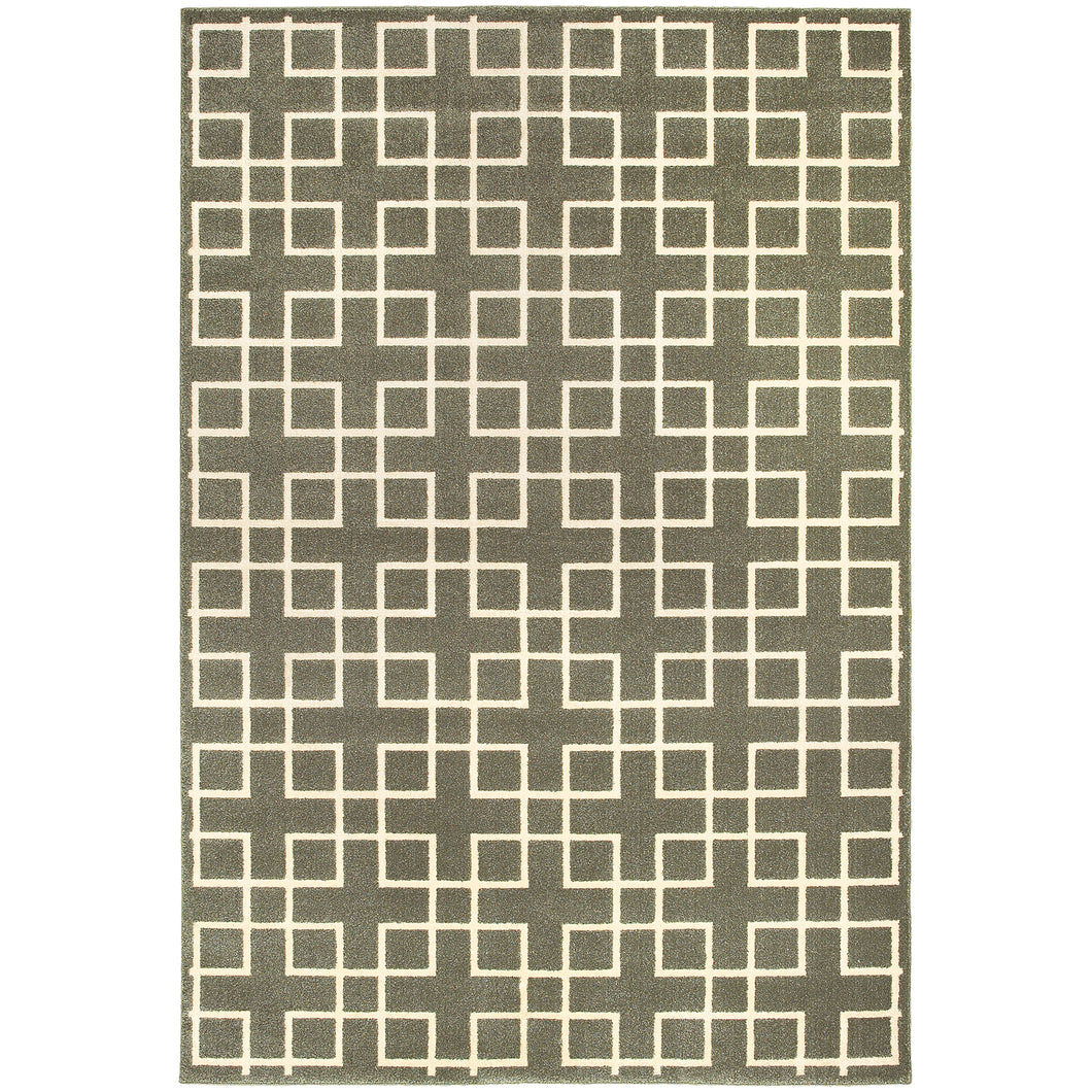 Oriental Weavers Ellerson 6140N Grey/Ivory Lattice Area Rug