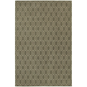 Oriental Weavers Ellerson 8021D Grey/Ivory Geometric Area Rug