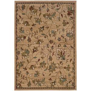 Oriental Weavers Emerson 1994A Gold/Brown Floral Area Rug
