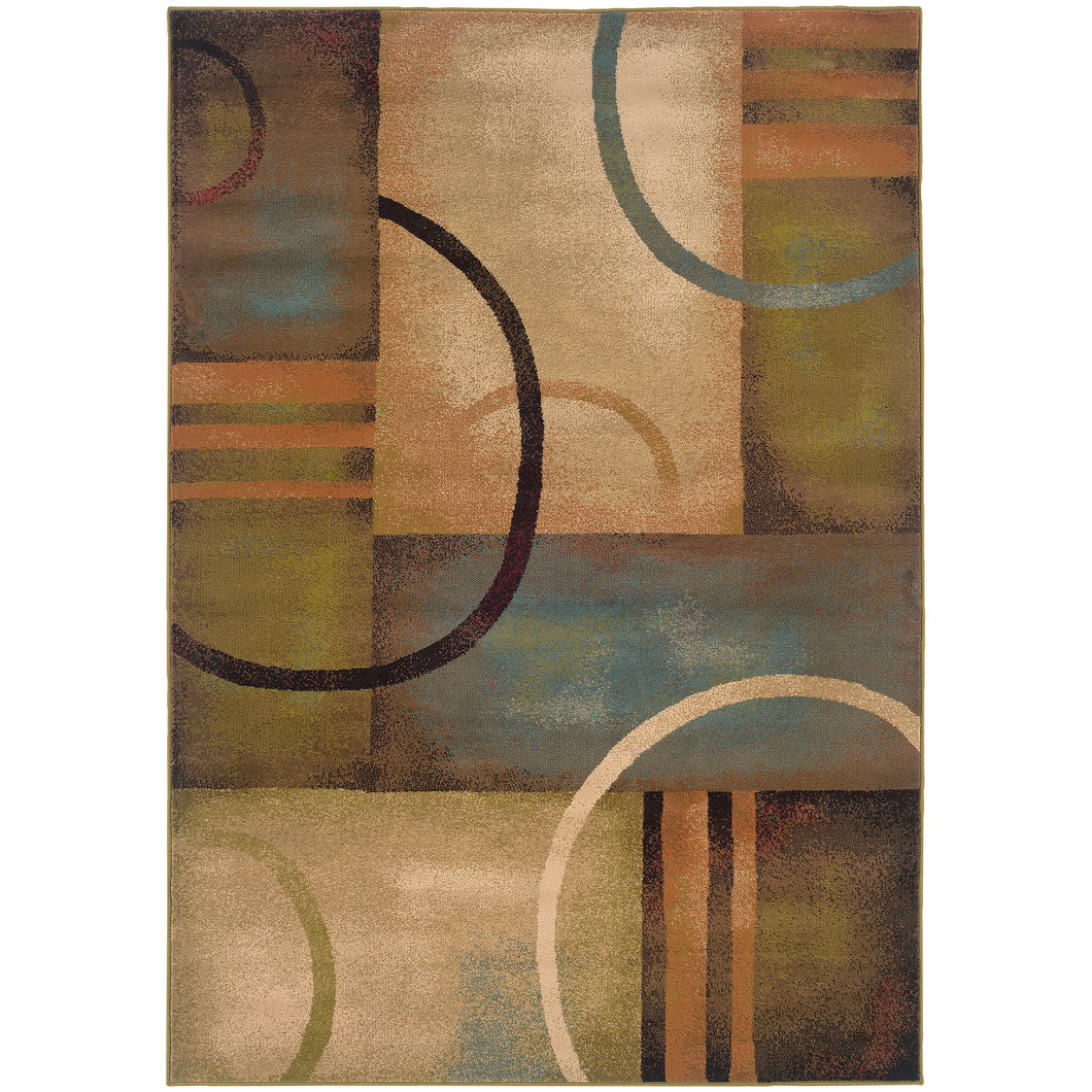 Oriental Weavers Emerson 2231A Brown/Gold Geometric Area Rug