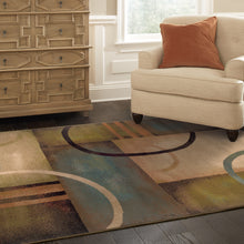 Load image into Gallery viewer, Oriental Weavers Emerson 2231A Brown/Gold Geometric Area Rug