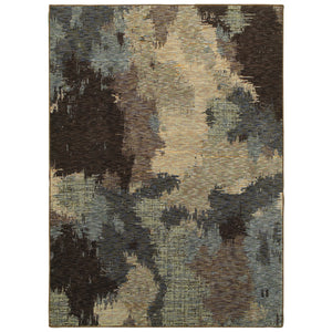 Oriental Weavers Evolution 8011B Blue/ Brown Abstract Area Rug