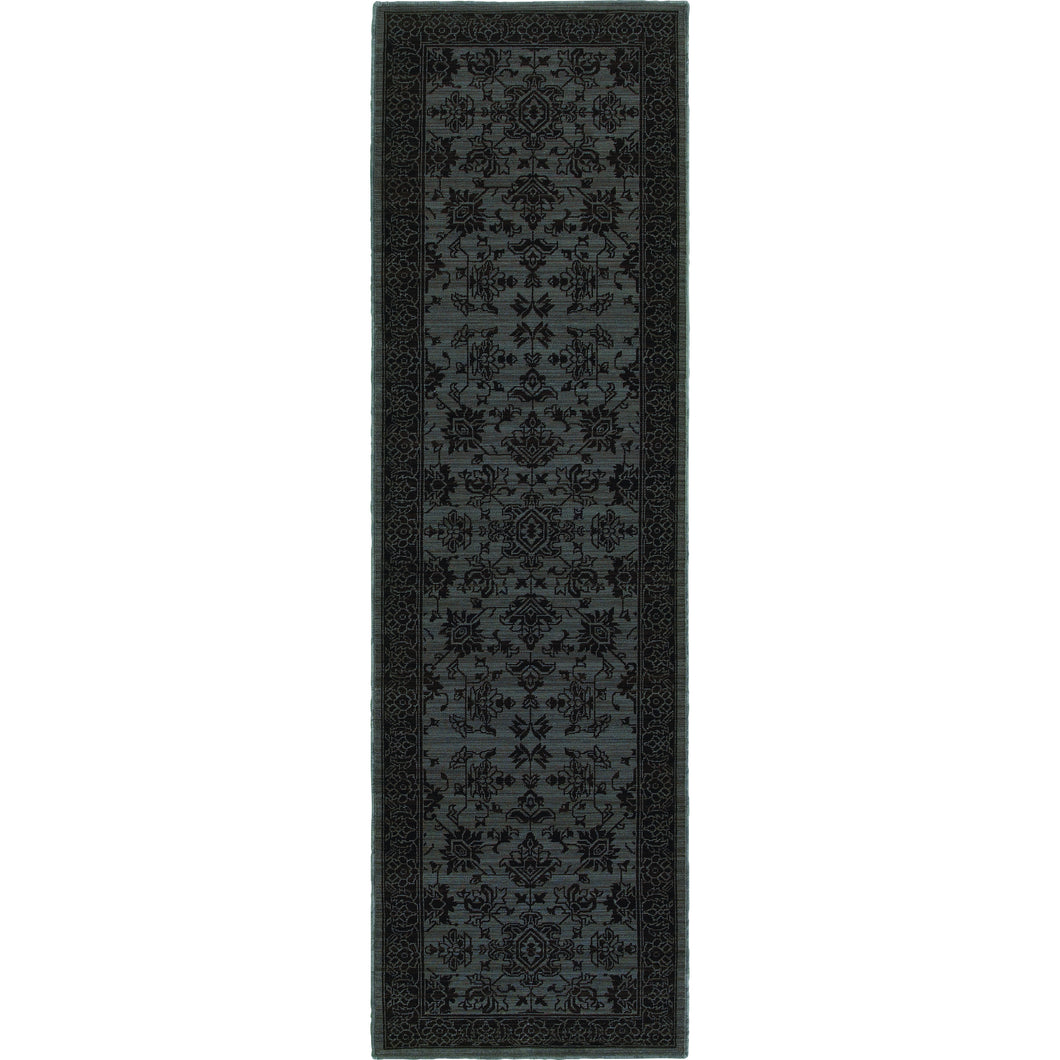 Oriental Weavers Foundry 597E5 Blue/ Grey Oriental Area Rug