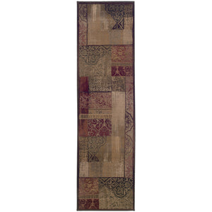 Oriental Weavers Generations 1527X Green/Beige Geometric Area Rug