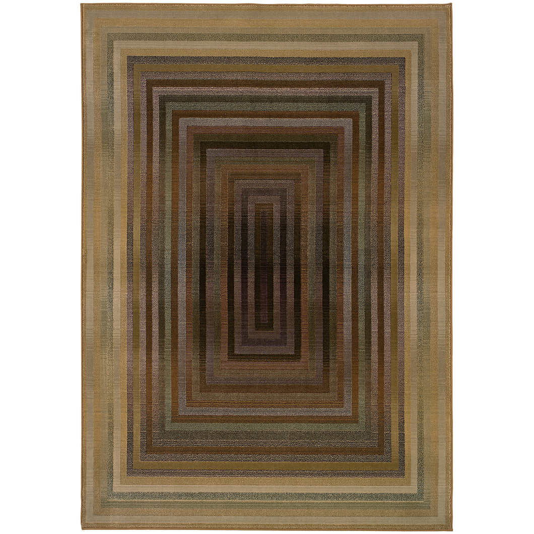 Oriental Weavers Generations 281J2 Beige/Green Geometric Area Rug