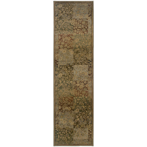 Oriental Weavers Generations 3435Y Green/Gold Floral Area Rug