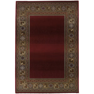 Oriental Weavers Generations 3436R Red/Green Border Area Rug