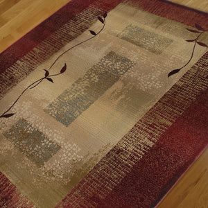 Oriental Weavers Generations 544X1 Red/Beige Border Area Rug