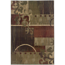 Load image into Gallery viewer, Oriental Weavers Generations 8007A Green/Red Abstract Area Rug