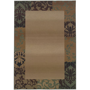 Oriental Weavers Genesis 2060Y Beige/Green Border Area Rug