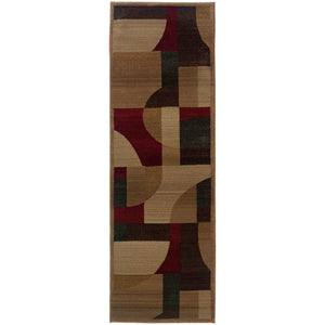 Oriental Weavers Genesis 5560D Tan/Brown Abstract Area Rug