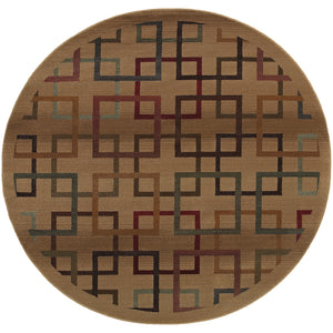 Oriental Weavers Genesis 096J1 Beige/Brown Geometric Area Rug