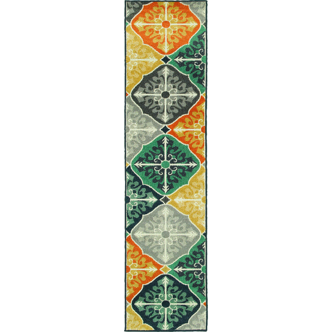 Oriental Weavers Hampton 2063X Multi/Blue Geometric Area Rug